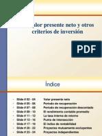 Valor presente neto y criterios de inversión
