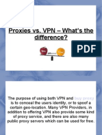 Proxies vs. VPN