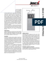 Catalog C6100 Chlorine Evaporator
