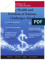 Wealth and Freedom of Nations-Challenges Ahead