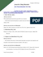 Apa Citation Format