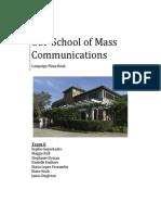 Plans Book- USF School of Mass Communications #IAMSMC Campaign