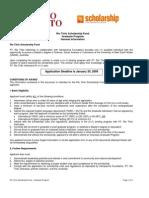 Rio Tinto Scholarship Fund Application Package - Graduate Program