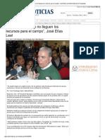 """06-12-2013 """"Nos preocupa que no lleguen los recursos para el campo"""", José Elías Leal.pdf"""