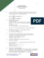 XII Math Ch12 Probability Formulae