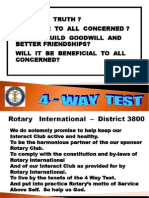05 4 Way Test, Pledge. Core and Advocacy
