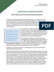 Understanding Speed Test Results