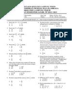 Soal UAS Matematika Kelas 7 TP 2012-2013