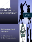 Indirect Methods of Recruitment- Hr