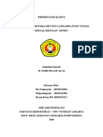 Case report in anesthesiology