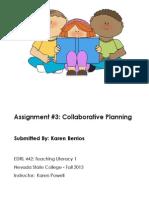 EDRL442 Fall2013 KarenBerrios Assignment 3 Skills and Strategies Day 3