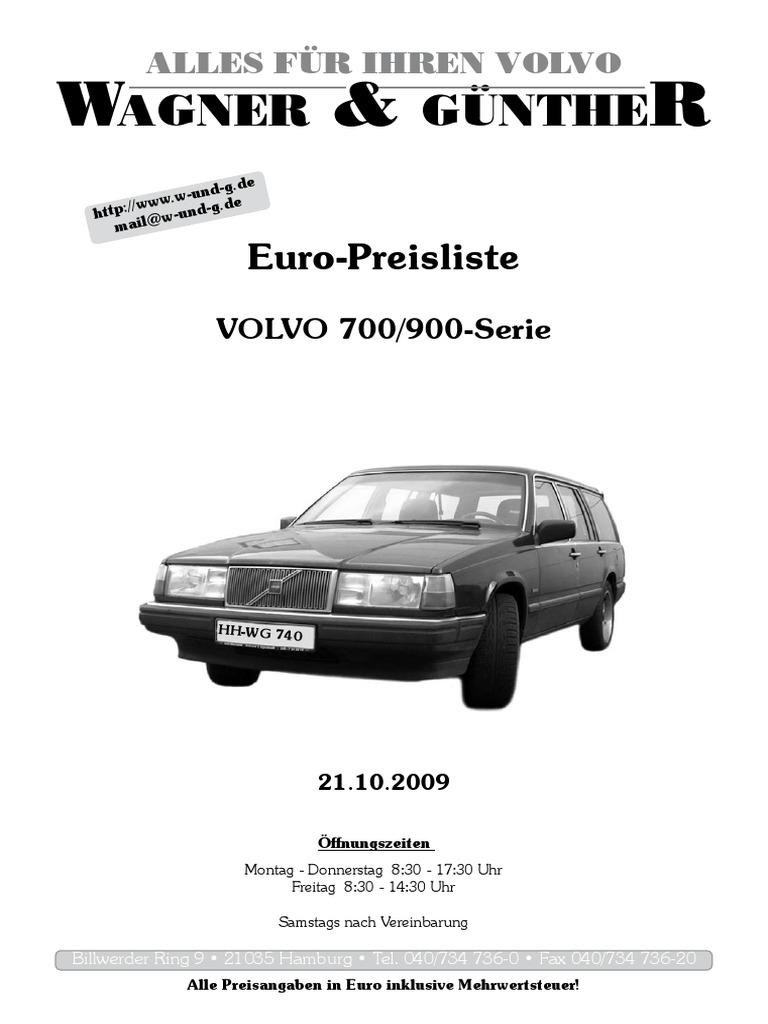 Montagesatz Bremsbeläge hinten Volvo 140 240 260 ATO