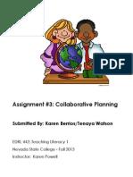 EDRL442 Fall2013 KarenBerrios Assignment 3 Skills and Strategies Day 1
