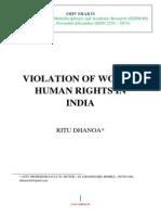 Vol 1 No 4.21 Violation Against Women