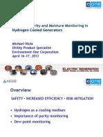 Hydrogen Dew Point Monitoring