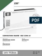 Covnection Heater θερμοπομπός Silvercrest 90866 EN_EL