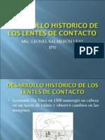 DESARROLLO HISTÓRICO DE LOS LENTES DE CONTACTO