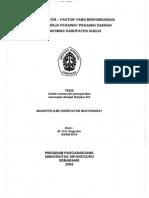 Analisis Faktor - Faktor Yang Berhubungan Dengan Kinerja Perawat Pegawai Daerah Di Puskesmas Kabupaten Kudus