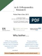 Orthopaedic Research Development