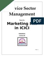 Marketing Mix in ICICI