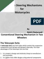 alternative steering mechanisms for motorcycles