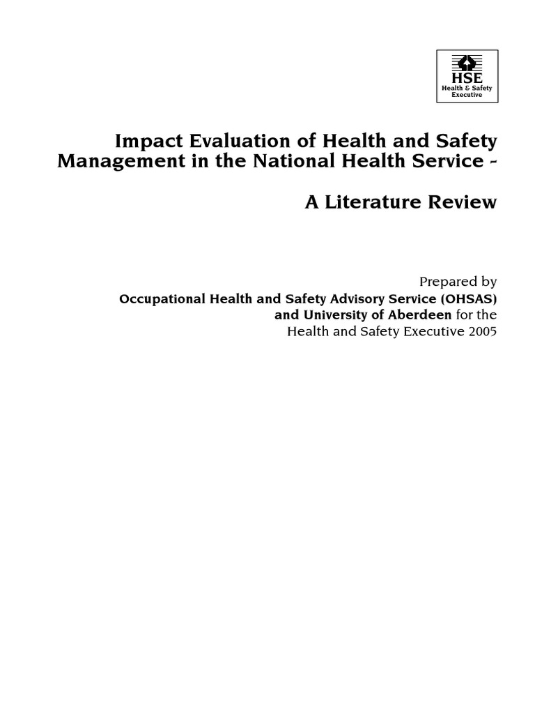 literature review on health and safety