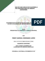 Determinacion de Indices de Sitio Para Pinus Oocarpa Schiede en Dos Localidades Del Departamento de Chiquimula