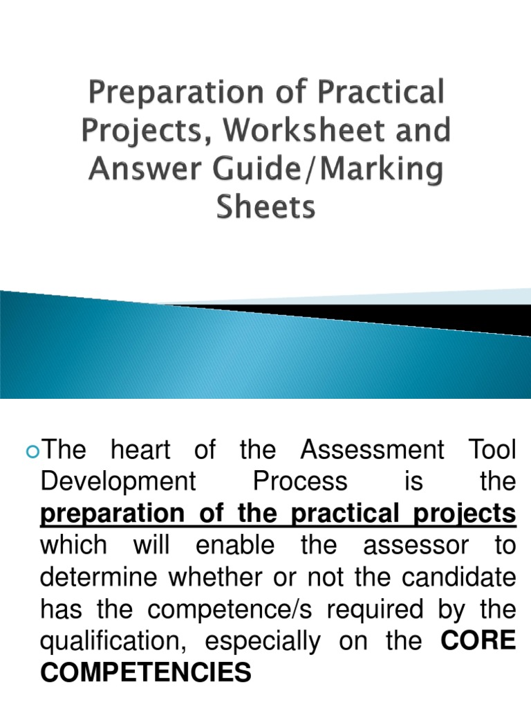 Preparation of Practical Projects, Marking Sheets, Worksheets ...