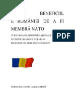 Beneficiile României de a fi membră NATO