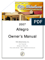 2007 Allegro Motorhome Owners Manual