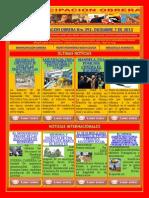 TITULARES BOLETÍN EMANCIPACIÓN OBRERA No 392. DICIEMBRE 7 DE 2013