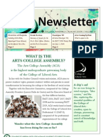 Arts College Assembly Newsletter - August 1, 2009