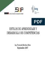 Estilos de aprendizaje y adquisición de competencias   Martínez, F.