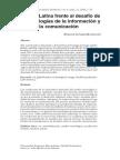 A.Latina frente al desafío de las TIC's Olivares, E.