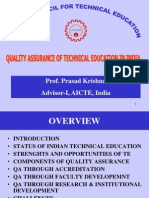 Quality Assurance of Technical Education in India _Prasad Krishna