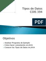 Pres2 Tipos de Datos 2012 JAVA