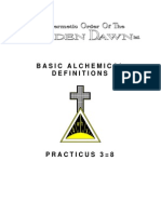 GOLDEN DAWN 3=8  Basic Alchemical Definitions