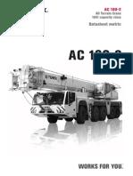 Grua Trex AC 160-2 Capacidades