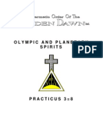 GOLDEN DAWN 3=8 Olympic and Planetary Spirits