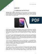 LG Nexus 5 Official Press Release