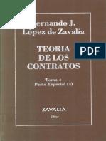 Lopez de Zavalia, Fernando- Teoria de Los Contratos Tomo IV