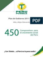 Plan de Gobierno Peru Posible 2011 2016[1]
