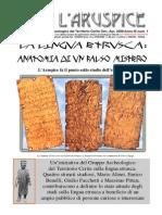 La Lingua Etrusca