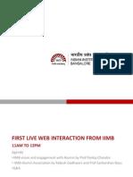 Iimbaa Updates Livewebcast