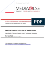 Political Fandom in the Age of Social Media: Case Study of Barack Obama's 2008 Presidential Campaign