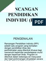 Rancangan Pendidikan Individu (Rpi)