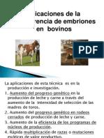 Aplicacion de La Transferencia de Embriones Expo