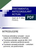 Tratamentul Anticoagulant Actual