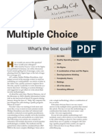 Quality Management Multiple Choice