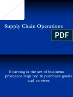 Sourcing supply chain